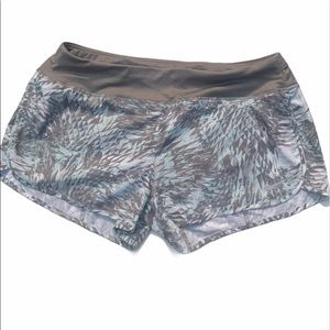 Nike Crew Running Shorts Gray/Light Blue Print